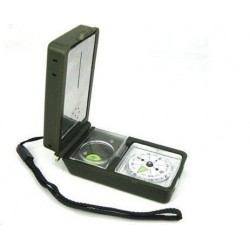 T10 PS brújula de espejo multifunción con linterna lupa termómetro higrómetro pedernal