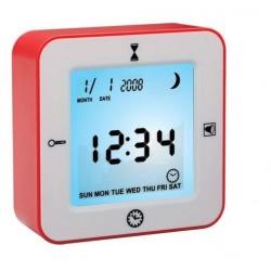 Sveglia movimento di rotazione orologio termometro contatore