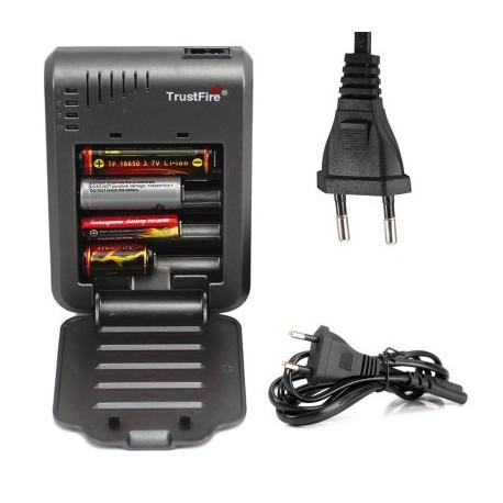 Carregador baterias recarregáveis cilindricas de lanterna 4