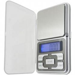 Báscula de precisión digital a 0,01 200g para bolsillo con tapa gramos joyería