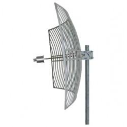 Parabólica WiFi 28dbi AGA-5828T 5.8GHz rejilla Grid antena punto a punto