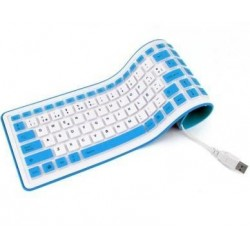 Teclado de silicona español USB Flexible White KEYBOARD