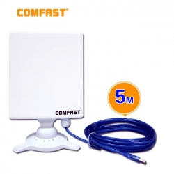 Antena panel direccional WIFI 14dbi cable USB 5M RT3070 exterior