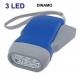 Lanterna dinamo diodo EMISSOR de luz bateria recarregável sem