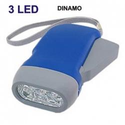 Dynamo torcia LED ricaricabile batteria nessuna batteria tasca auto