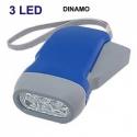 Lanterna dinamo diodo EMISSOR de luz bateria recarregável sem pilhas carro bolso