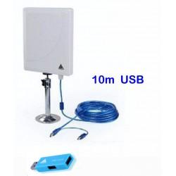 Melon N4000 antena painel de 36dbi com 10 metros cabo USB + PW-916