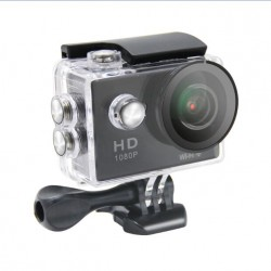Camara video de acção em full HD 1080p H. 264 com WIFI 170º, resistente à água 30m