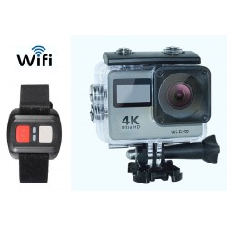 Caméra 4k WiFi 16Mp UltraHD Sport Cam télécommande H. 264 MOV 170e À
