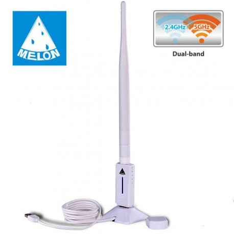Melone TS-N80-chip RT5572 a lungo raggio omnidirezionale antenna 6dbi Soft AP