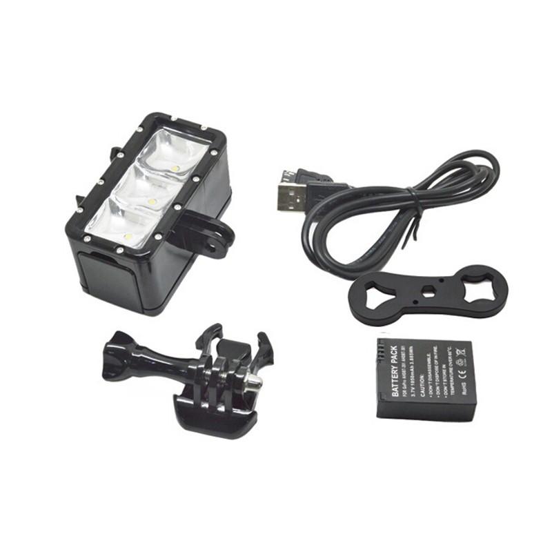 led licht wasserdicht f r action kamera gopro. Black Bedroom Furniture Sets. Home Design Ideas