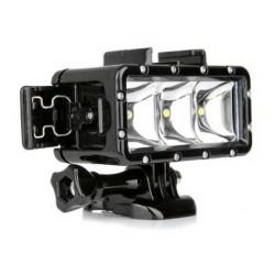 Luz LED à prova d'água para camara de acção Gopro Hero4 / SJ4000 SJ5000 YX258 4k 1080p