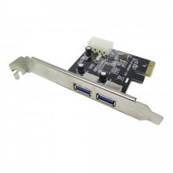 Carte PCIE USB 3.0, 2 ports plaque interne de la carte d'Hôte PCI-e Express 5 gbits / s