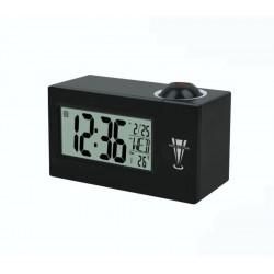 Despertador relógio com projeção de luz hora parede controle
