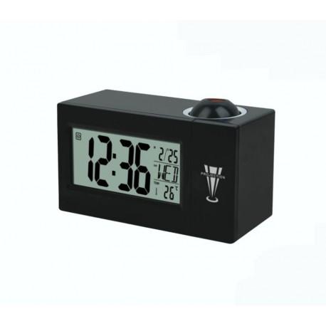 Despertador reloj con proyeccion luz hora pared control por