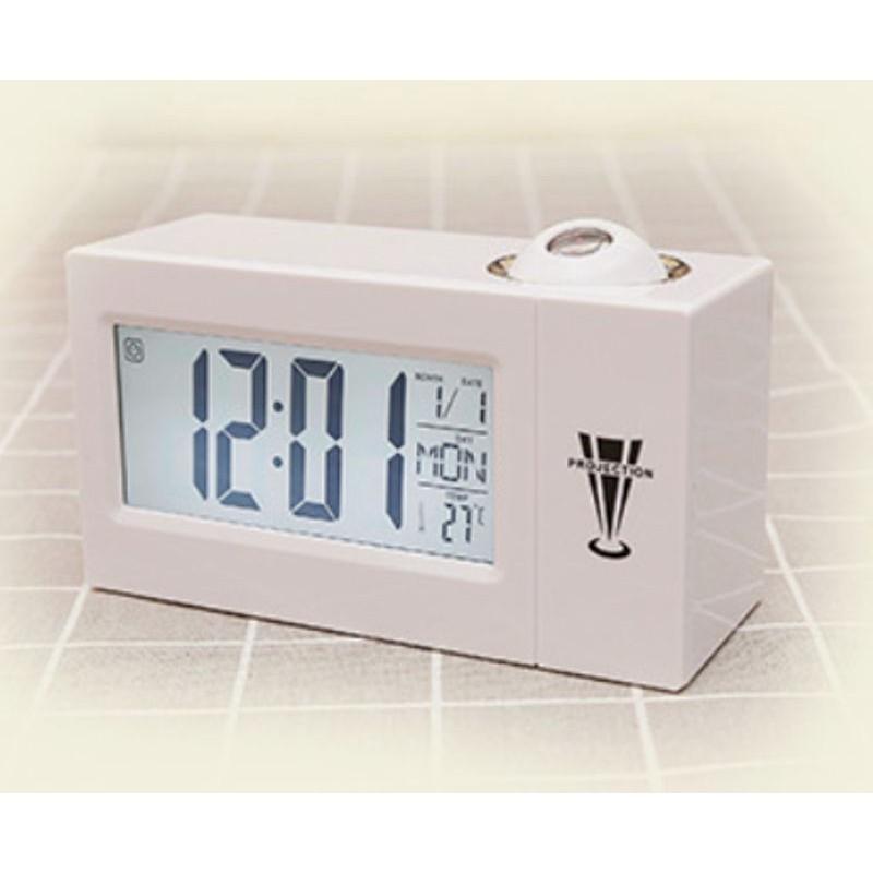 07bc92a4ae6 ... Despertador relógio com projeção de luz hora parede controle ...