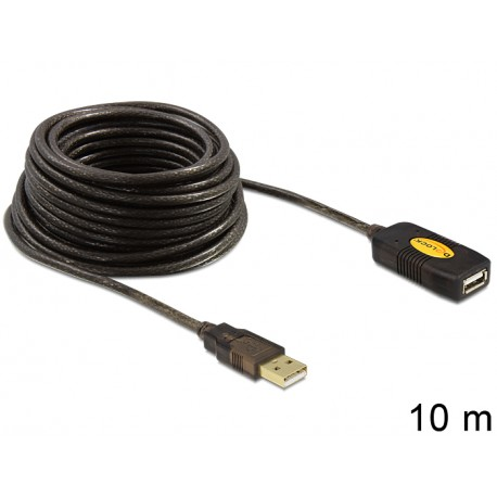 Extension Cable USB 2.0 active 10 m gold plated type A male / female