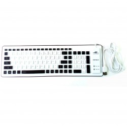 Teclado flexible enrrollable PRITECH Negro USB plegable silicona