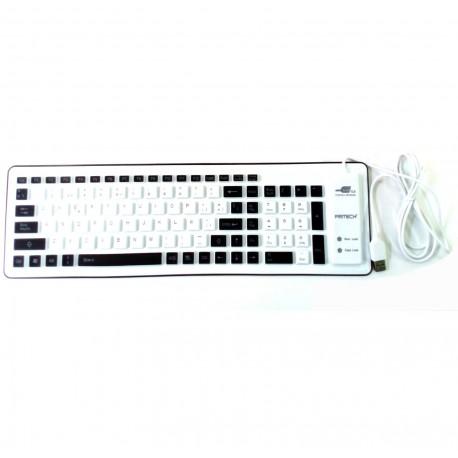 Flexible keyboard enrrollable PRITECH Black USB folding silicone
