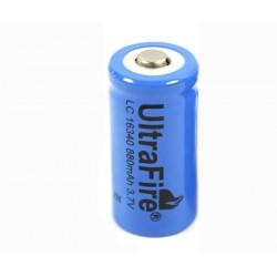Ultrafire 16340 Batería de litio recargable 880mAh CR 123A