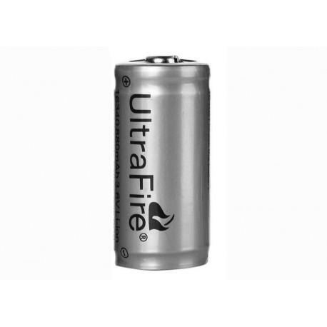 Batteria Ultrafire originale 16340 3.6 V 880mA Protetto PCB CR