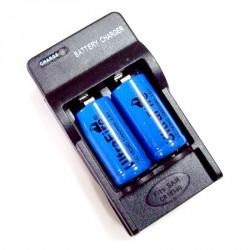 Cargador baterías litio 16340 3.7v. 123A de cámara o linterna