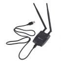 Antena USB wireless N 2 antenas 300mbps 2T2R MIMO 2W 300M