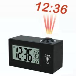 Despertador reloj con proyeccion luz hora pared control por sonido