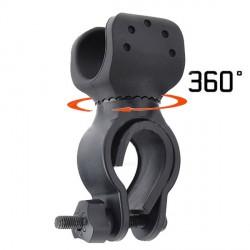 Del supporto del supporto della torcia elettrica bicicletta Morsetto girevole a 360 ° fino a 36 mm