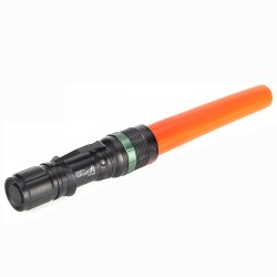 La torcia elettrica con il cono di traffico LED arancione ZOOM