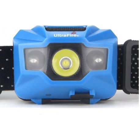 Frontal lanterna LED W03-A bateria recarregável USB luz branca