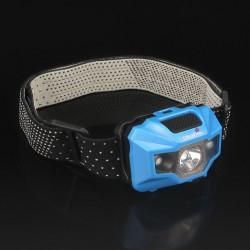 Frontal lanterna LED W03-A bateria recarregável USB luz branca e vermelha