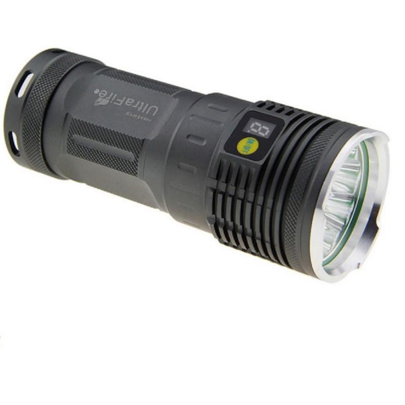 Linterna tactica potente recargable u 3l2 3 led cree xm l2 for Linterna de led potente
