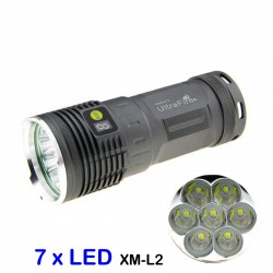LED flashlight very powerful Ultrafire XM-L2 U2 6300lm kit rechargeable