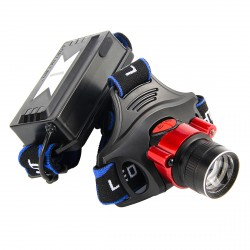 Torcia a LED anteriore sensore di suono ricaricabile potente zoom 800LM