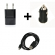 Cargador Universal coche + casa USB cable microUSB 1m 1A 1000mA