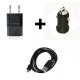 Carregador carro + casa USB e cabo microUSB 1m 1A 1000mA