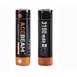 Rechargeable battery ARC18650H-310A 18650 20A 3100mAh Li-ion battery, Acebeam