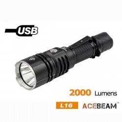 L16 Lanterna Recarregável por USB 2000LM XHP35 alcance 600 metros