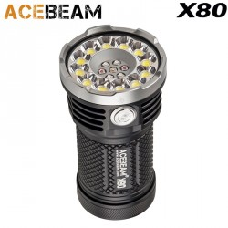 Acebeam X80 Flashlight, very powerful and rechargeable 12 LED CREE® XHP50.2 25000LM
