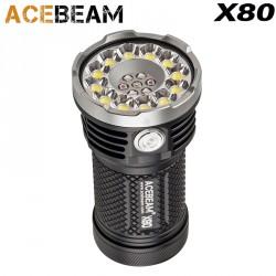 Acebeam X80 Taschenlampe sehr leistungsstarke und wiederaufladbare 12-LED CREE® XHP50.2 25000LM
