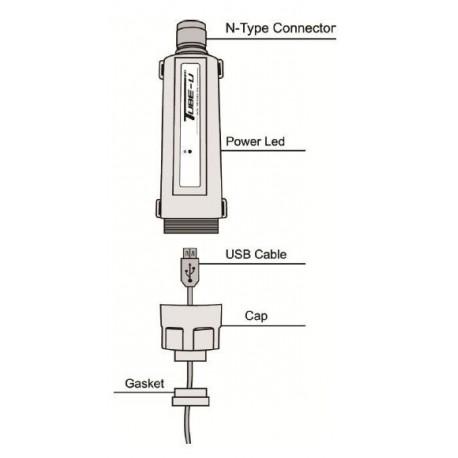 CPE USB exterior TUBE-U Adaptador WiFi USB tipo tubo conector N