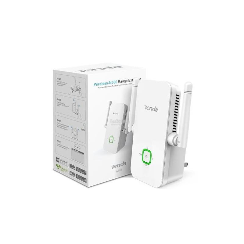 R p teur wifi tenda a301 300mbps universal r p teur - Augmenter portee votre wifi avec repeteur ...