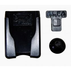 Supporto per finestra a ventosa e clip per antenne Alfa Network con montaggio a U.