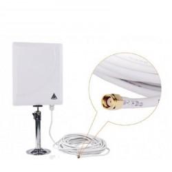 Antena Painel 36dBi WIFI Direcional externa SMA com cabo 10 metros