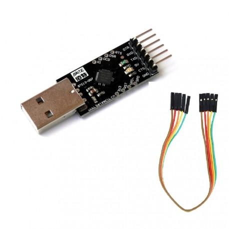 USB série módulo RS232, UART TTL Cabo porta COM chip CP2102