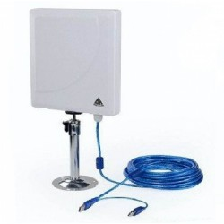 Melon N519 36dbi chip RT3072 300Mbps Antena WIFI panel para exterior
