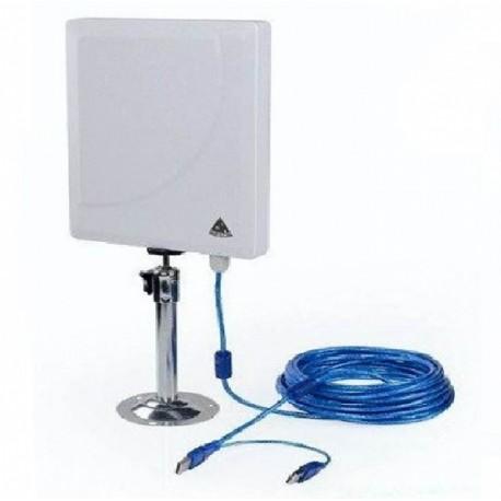 Melon n519 36dbi puce rt3072 300 mbps antenne wifi panneau for Antenne wifi exterieur