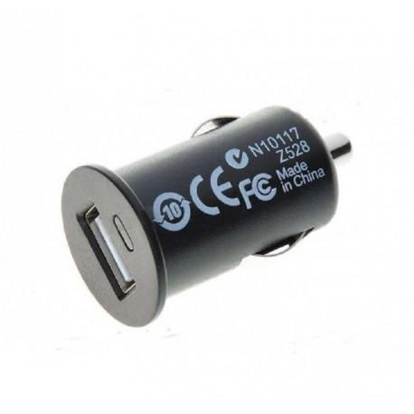 Cargador de movil para coche conexion USB 1A 1000mA mechero mp3