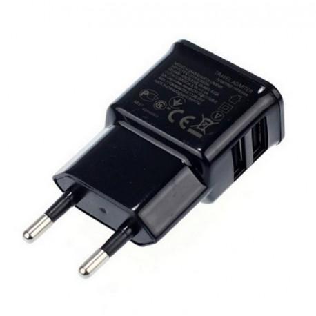 Carregador duplo 2 saídas USB telefone móvel e tablet 2000mAh 2A